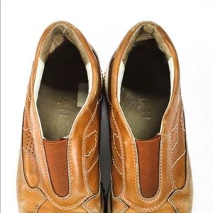 Hogan Shoes - HOGAN DISTRESSED STYLE TAN SLIP ON SNEAKERS SIZE 8